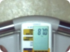 ダイエット22日目、中年親父の体重