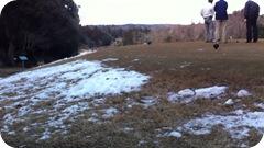 雪上ゴルフラウンド