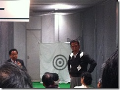 青山薫プロ ジャパンゴルフフェア2012シニアレッスンショー