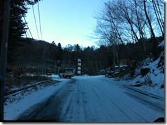 丸沼高原スキー場雪道